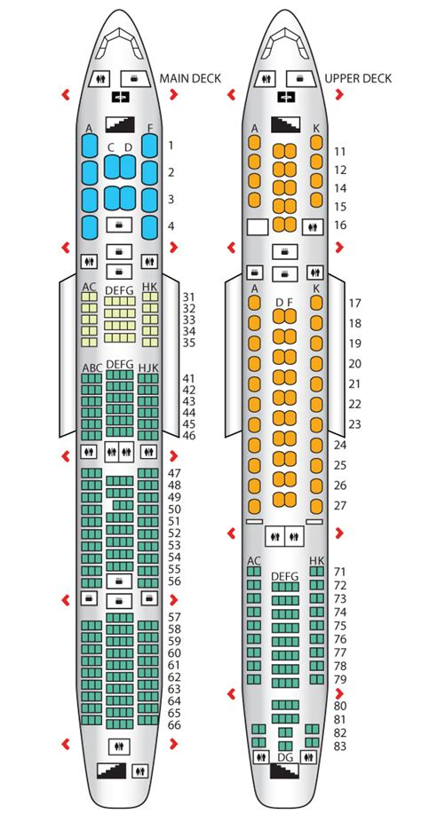 A380 Floor Plan by Premium Economy Class A380 800 Config 3 Singapore
