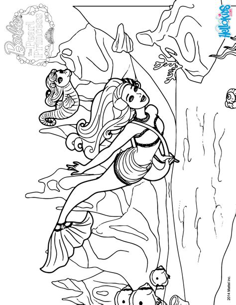Barbie The Pearl Princess Coloring Pages Mermaid Lumina Pearl Princess Coloring Pages