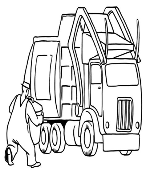 coloring page of trash truck trash truck coloring pages coloring home