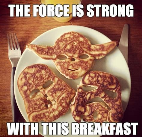funny 2014 star wars pancakes