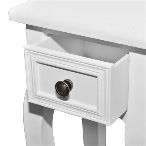 white side table with drawer white telephone side table with drawer 2 pcs vidaxl