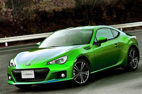 subaru green green brz autos weblog
