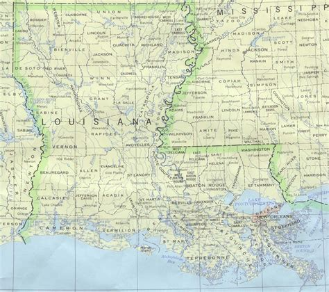 louisiana map louisiana base map