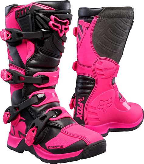 pink motocross boots 2017 fox racing youth comp 5 boots mx atv motocross off