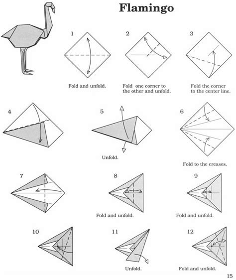 How To Fold Origami Animals - inkspired musings flaming flamingos batman