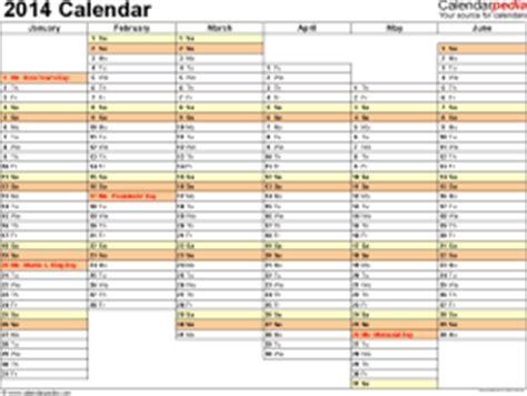 weekly calendar template 2014 excel 2014 calendar excel 13 free printable templates xlsx