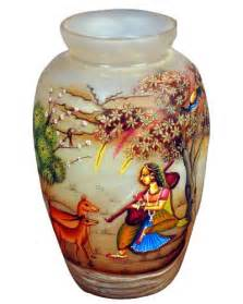 Marble Flower Vase Pot Painting Heritage Of India