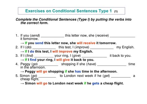 pattern of conditional sentences pattern if clause type 1 grammar viii jenniffer orozco