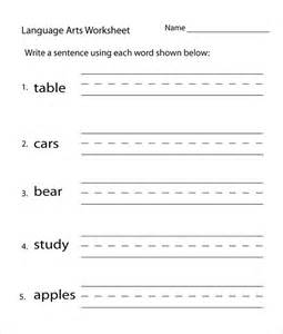 template language 24 sle language arts worksheet templates free pdf