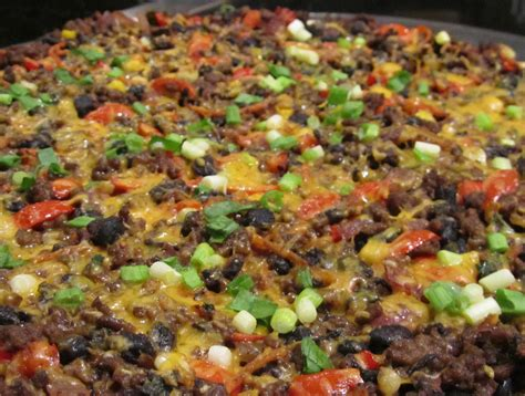Pizza Beef Corn 2 beef and black bean mexican pizza tamara leigh the