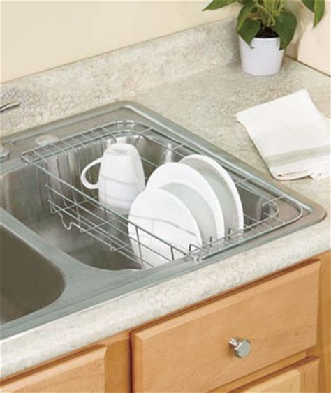 Sink Drying Rack by New In Sink Hanging Dish Drying Rack Chrome Or White