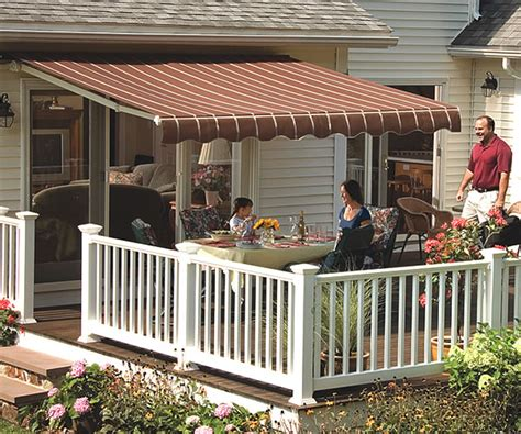 Sunsetters Retractable Awnings by 14 Vista Manual Retractable Awning In Acrylic Fabric By