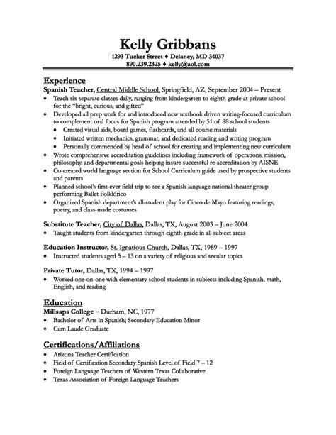 Teachers Resumes Exles by Resume Exles 2018 Resume Exles 2018