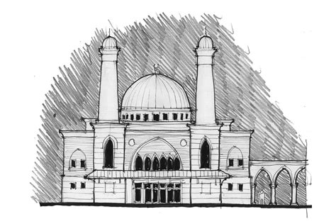 Mosque Drawing by Pics For Gt Muslim Mosque Drawing