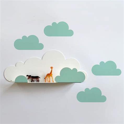 kinderzimmer deko personalisiert mensola nuvola sticker da muro nuvola verde