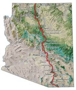 arizona trails map ata overview map