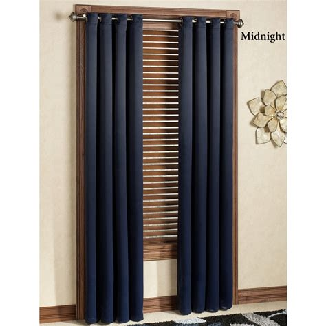 blackout curtain panels with grommets carnivale heavyweight blackout grommet curtain panels
