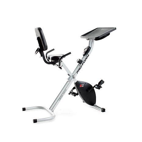 proform desk x bike exercise bike proform desk bike with 8 levels of resistance 8086666 hsn