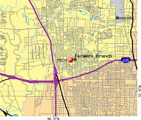 map of farmers branch texas 75234 zip code farmers branch texas profile homes