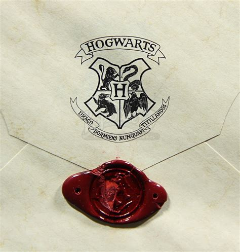 Hogwarts Acceptance Letter Wax Seal Harry Potter And The Philosopher S 2001 Hogwarts Acceptance Envelope With Wax Seal