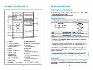 Daewoo Refrigerator Manual Daewoo Ewr121w Fridge Refrigerator User Guide