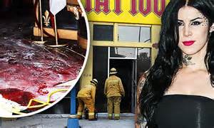 la ink star kat von d outside famed tattoo shop after