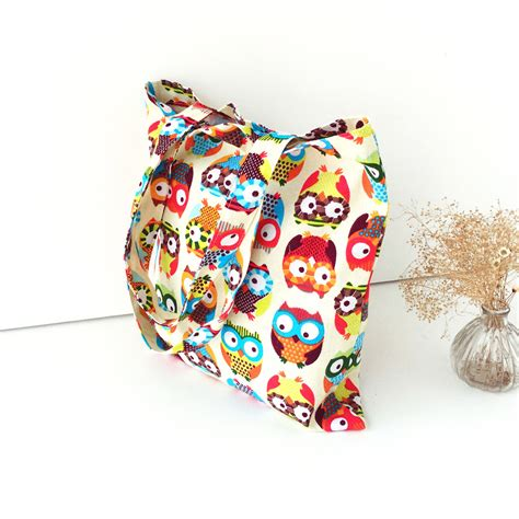 Totte Bag Kanvas Owl Tas Kanvas Totte Burung Hantu 1 1 owl womens shopper tote canvas capacity handbag shopping shoulder bag alex nld