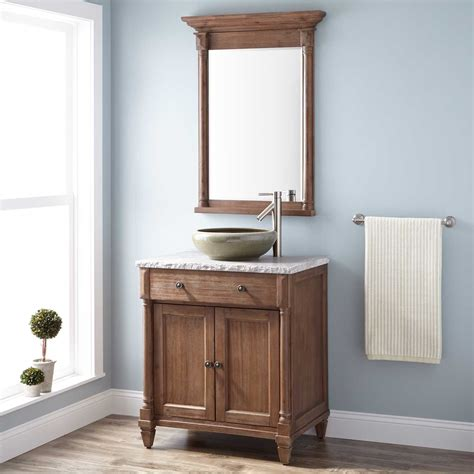 rustic bathroom vanities for vessel sinks 30 quot neeson vessel sink vanity rustic brown bathroom