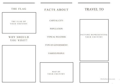 Printable Travel Brochure Template For Students Travel Brochure Template And Exle Brochure Free Brochure Templates For Students