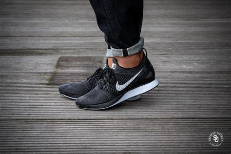 Sneakers Sepatu Nike Airforce Flyknit Racer Black White Premium nike air zoom flyknit racer black white grey 918264 001