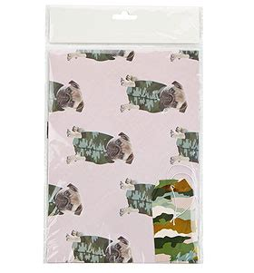pug wrapping paper roll camo pug gift wrap set i pugs