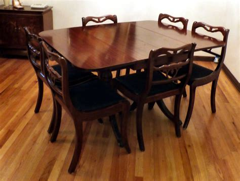 duncan phyfe style dining room table and chairs ebth duncan phyfe dining table