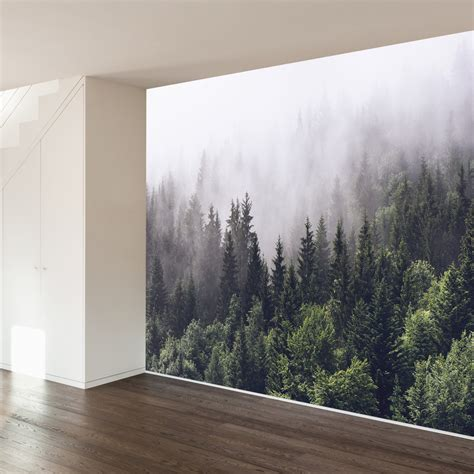 wallpaper for walls reviews walls need love misty forest wall mural reviews wayfair