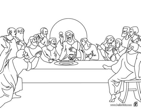The Last Supper Coloring Pages Printable the last supper coloring pages hellokids