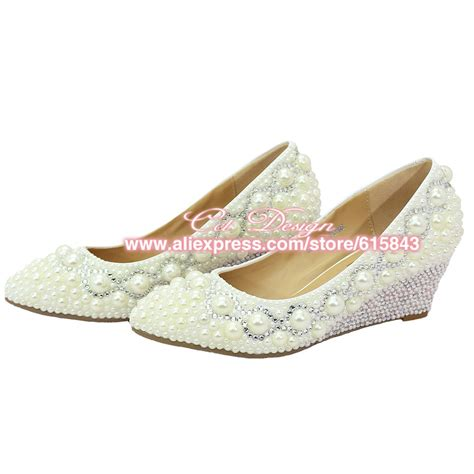 Ivory Wedding Shoes Wedge Heel by Popular Ivory Wedge Bridal Shoes Buy Cheap Ivory Wedge