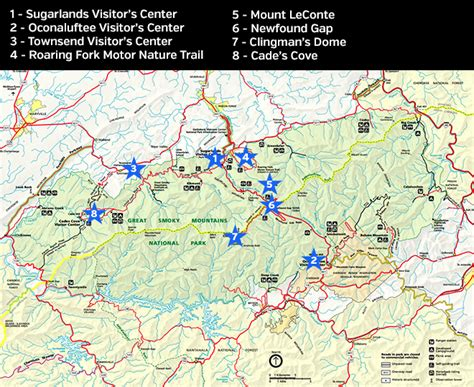 smoky mountains map photography guide to great smoky mountains national park loaded landscapes
