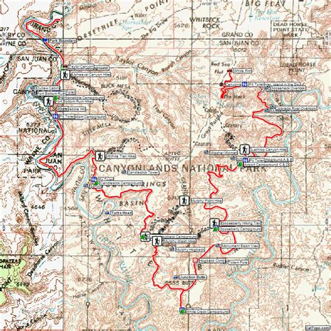 moab jeep trails map destinations white rim trail expedition portal