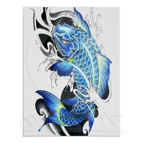 blue koi fish tattoo blue koi www pixshark images