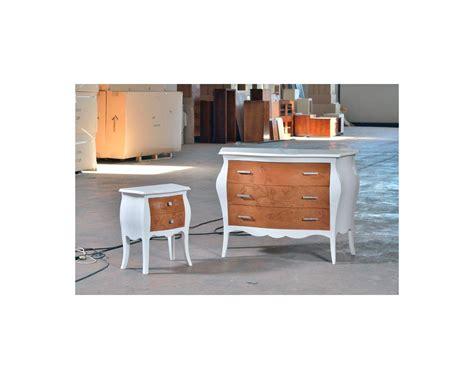 comodino legno comodino legno col bicolore con intarsio a rilievo laccato
