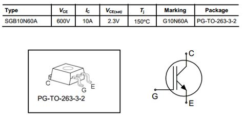 g10n60a transistor datasheet transistor g10n60a 16 images g10n60a datasheet pdf 600v 10a igbt infineon transistores