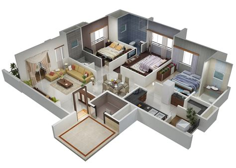 home design 3d 3 bhk gini lake gardenz ahmedabad 3d views gini construction pvt ltd