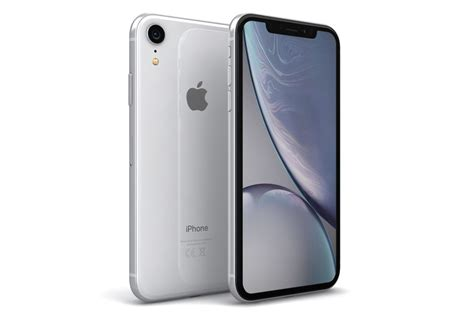 3d apple iphone xr white model turbosquid 1337492