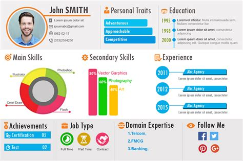 Examples Of Graphic Design Resumes by Introducing Yoscv A Free Infographic Resume Builder