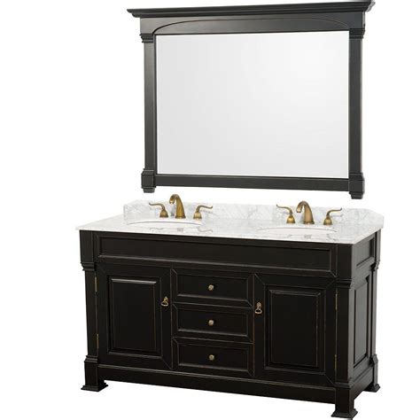Black Antique Vanity by Wyndham Collection Andover 60 In Vanity In Antique Black