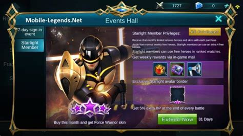 codashop mobile legend starlight starlight member privileges mobile legends