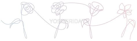 quot bts love yourself her flowers gradient quot by yoshfridays