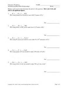 mole to mole stoichiometry worksheet answers precommunity