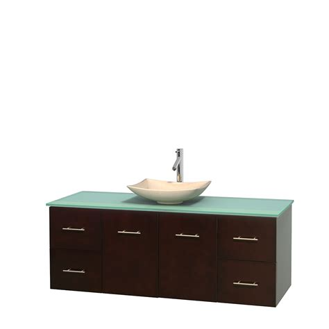 Glass Vanity Countertop by Wyndham Collection Wcvw00960sesgggs5mxx Centra 60 Inch
