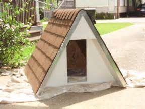 End Table Kennel Build An Insulated A Frame Doghouse For Under 75