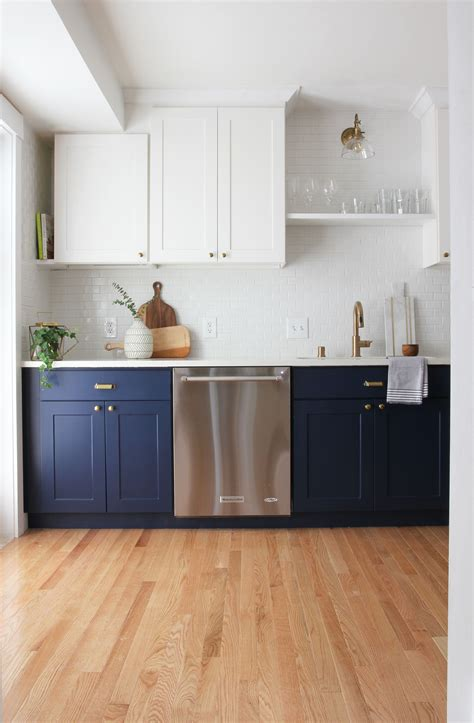 navy blue paint options  kitchen cabinets